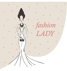 woman or girl fashion background vector image vector image