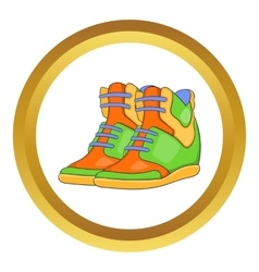 Womens autumn sneakers icon vector