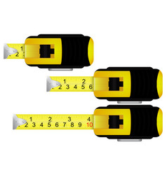 Yellow metal tape measure vector