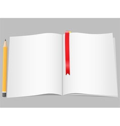 Blank Pages with Pencil vector image vector image
