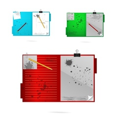 colored grunge office symbols set isolated vector image vector image