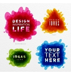 Tangled color paint vector