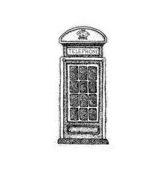 dotwork london telephone box vector image vector image