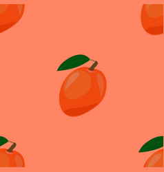 seamless pattern with ripe yummy mango vector image vector image