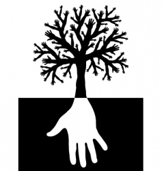tree of hands vector image vector image