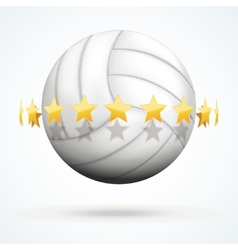 volleyball ball with golden vector image vector image
