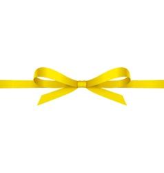 Yellow bow vector image