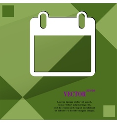 Calendar Flat modern web design on a flat vector image