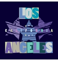 California T-shirt fashion - vector image