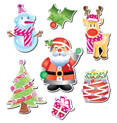 christmas cartoon collection vector image vector image