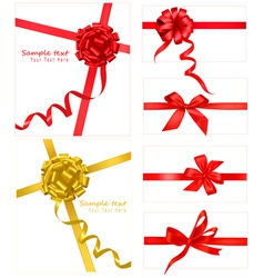 collection with bows and ribbons vector image vector image