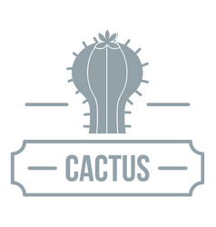 decoration cactus logo simple gray style vector image vector image