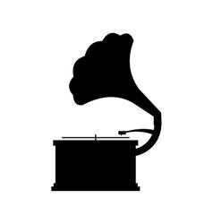 Gramophone black icon vector image vector image