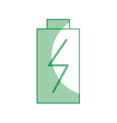 Silhouette battery power electric digital charge vector