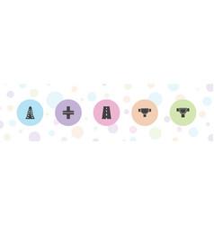 5 asphalt icons vector