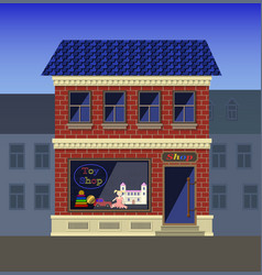 A small toy store in the old house vector