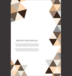 abstract geometric design background template 8 vector image