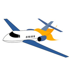 Airplane crash on white background vector