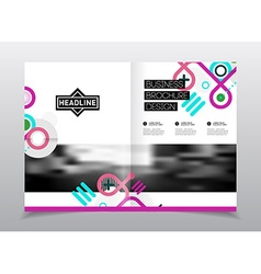Annual report Flyer or poster for party A4 vector