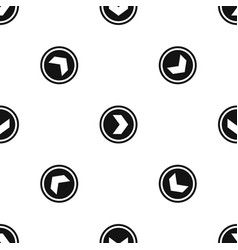 arrow to right in circle pattern seamless black vector image