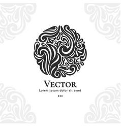 Beautiful leaf ornament emblem vector