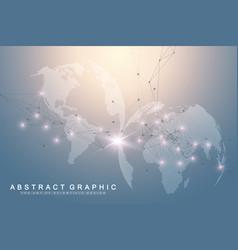 Big data visualization with a world globe vector