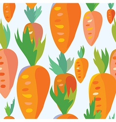 Carrot seamless funny pattern vector image