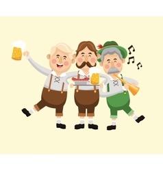 cartoon men oktoberfest icon graphic vector image