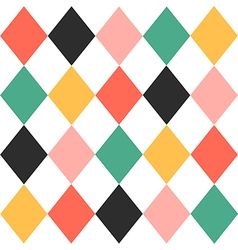 Colorful Chess Board Diamond Background vector image