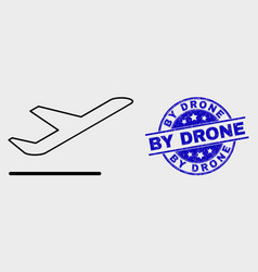 contour airplane departure icon and vector image