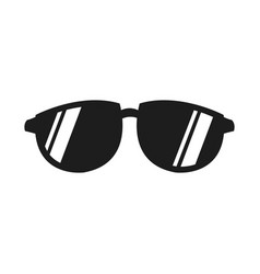 Cool black cartoon sunglasses eye frames vector