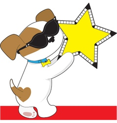 Cute Puppy Star vector image