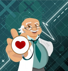 Doctor with health symbol vector