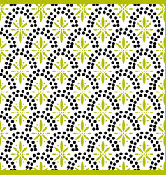 dotted fish scale geometric archs seamless pattern vector image