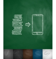 E-books icon vector