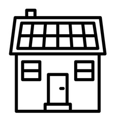 eco house icon outline style vector image