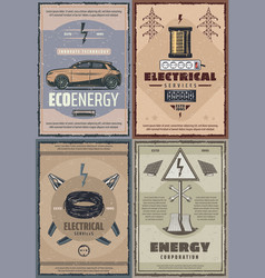electricity power station and energy vector image