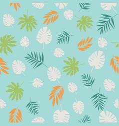 exotic tropical leaves seamless pattern vector image