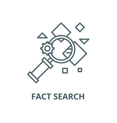 fact search line icon linear concept vector image