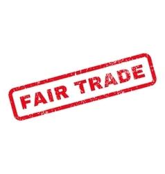 Fair Trade Text Rubber Stamp vector
