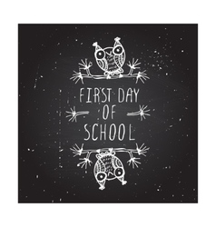 First day of school poster vector
