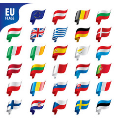 Flags european union vector