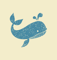 Flat icon of a whale vector