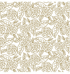 Floral rose wedding seamless pattern vector