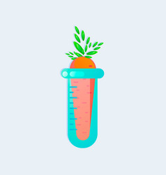 genetic engineering gmo carrot in test tube vector image