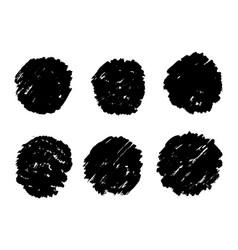 grunge circles set grunge round shapes vector image