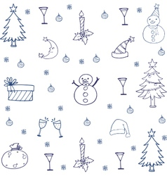 Hand draw christmas in doodle vector