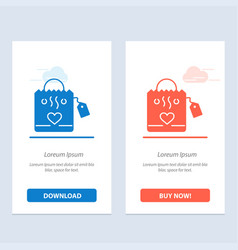 Handbag love heart wedding blue and red download vector