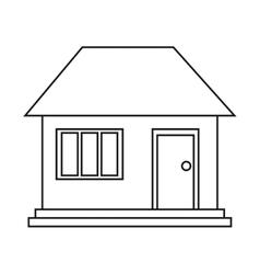 House home family residential outline vector