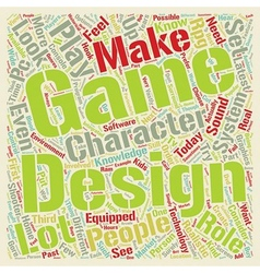 How to design a game system text background vector